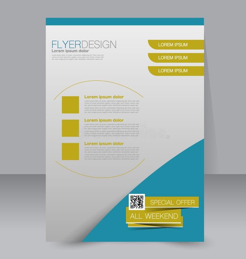 Flyer Template Brochure Design A4 Business Cover Stock Vector