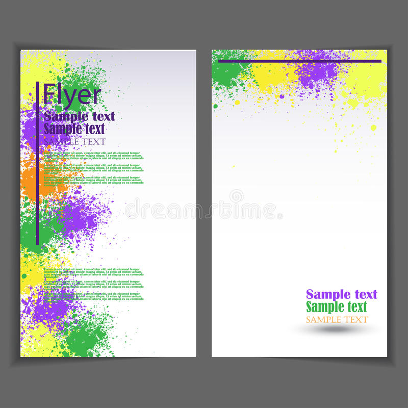 Flyer Template Business Brochure For Design Stock Vector