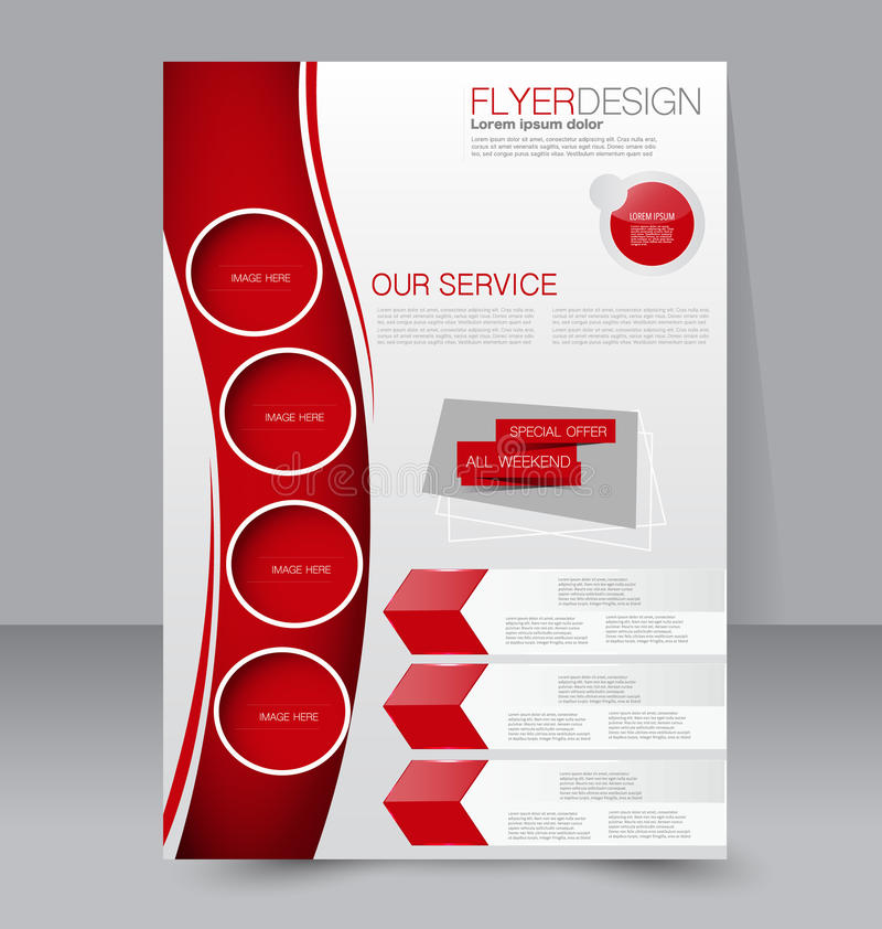 Free Flyer Template. Business Brochure. Editable A4 Poster Royalty Free Stock Images - 57767339