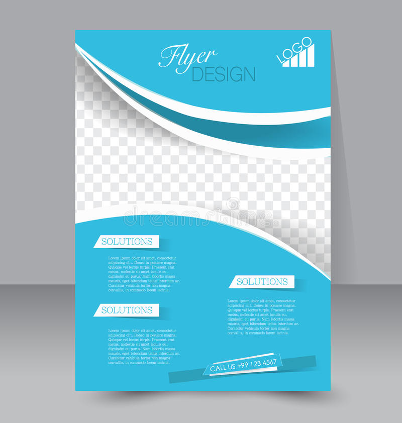 Flyer Template Business Brochure Editable A Poster Stock Vector