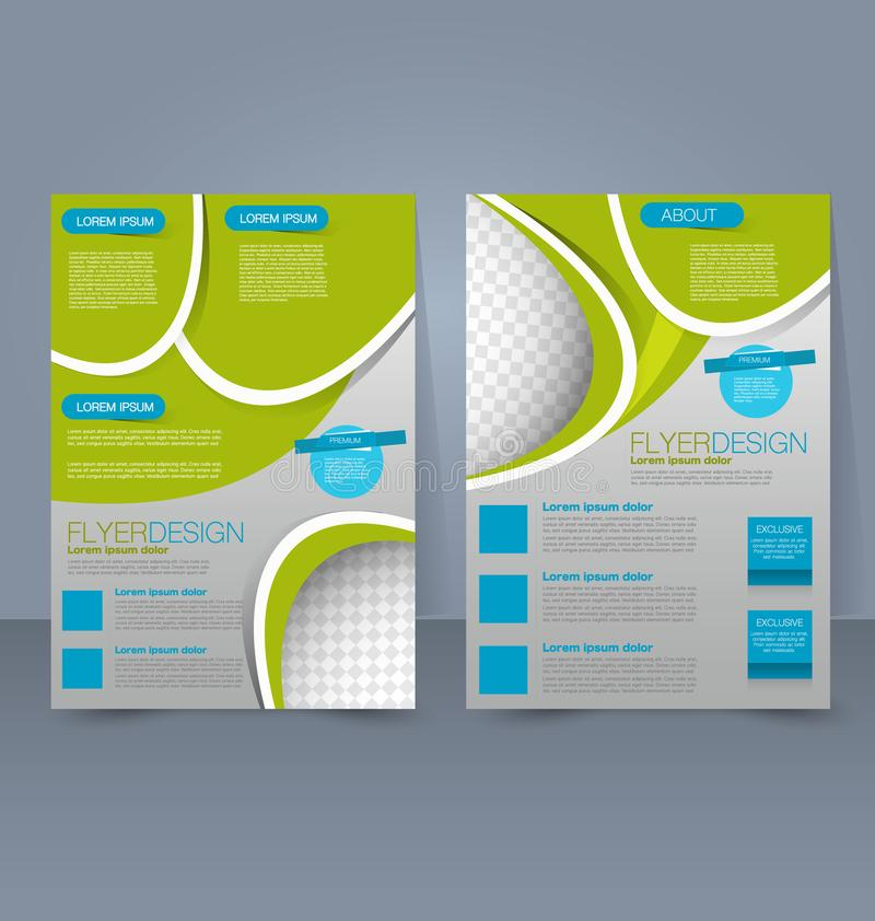 Flyer template. Business brochure. Editable A4 poster for design education presentation website magazine cover. royalty free illustration