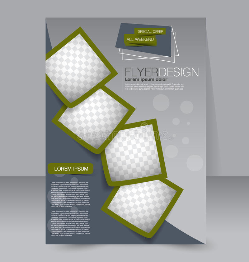 Flyer template. Business brochure. Editable A4 poster for design royalty free illustration