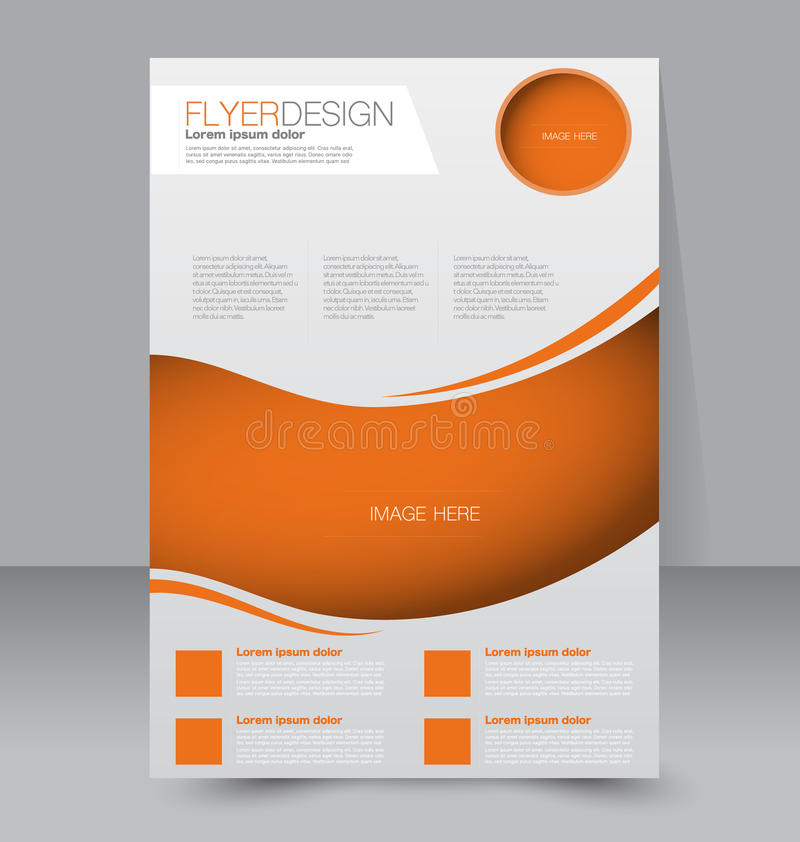 Flyer template business brochure editable a4 poster for Free poster design templates