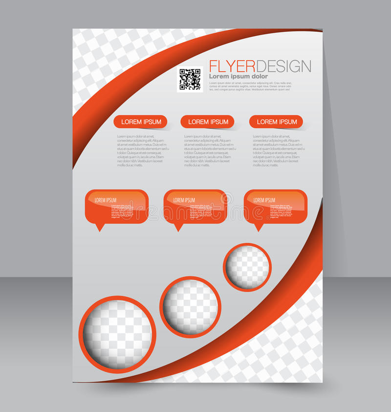 Flyer template. Business brochure. Editable A4 poster royalty free illustration
