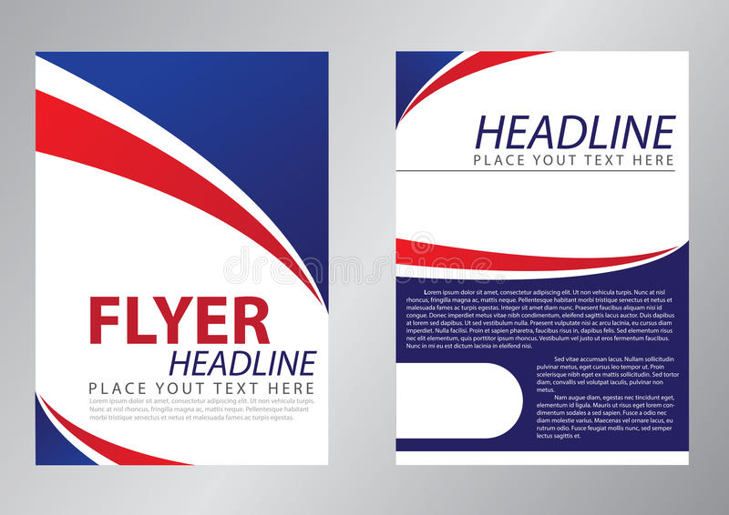 Flyer Template Design Stock Illustration Illustration Of Layout