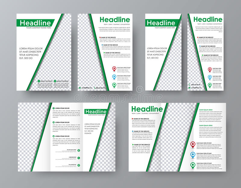 Flyer A4 Template A Folding Brochure And A Narrow Banner For Ad