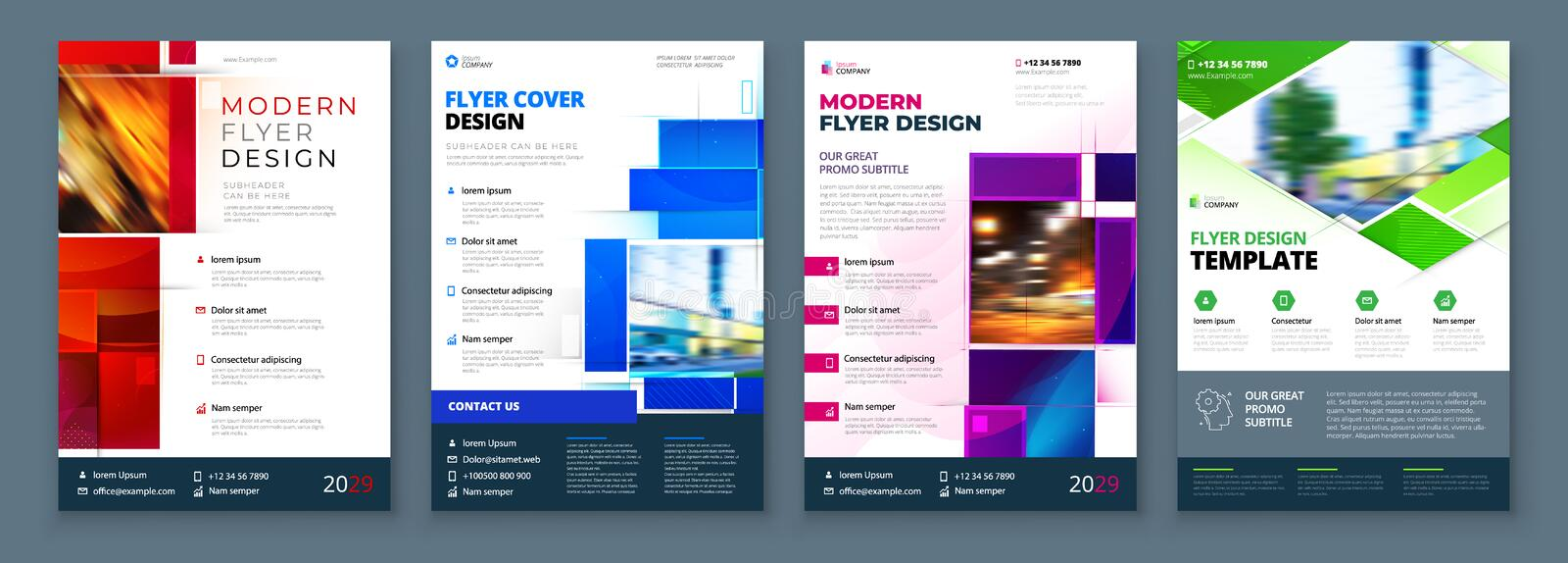 Flyer Template Layout Design Corporate Business Flyer, Report, Catalog, Magazine Mockup Kreatives, modernes Lichtkonzept lizenzfreie abbildung
