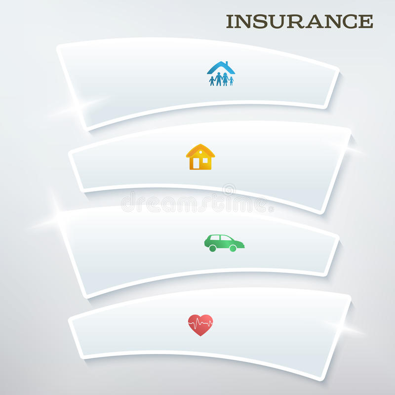 Flyer-template-layout-insurance-services1 ilustración del vector