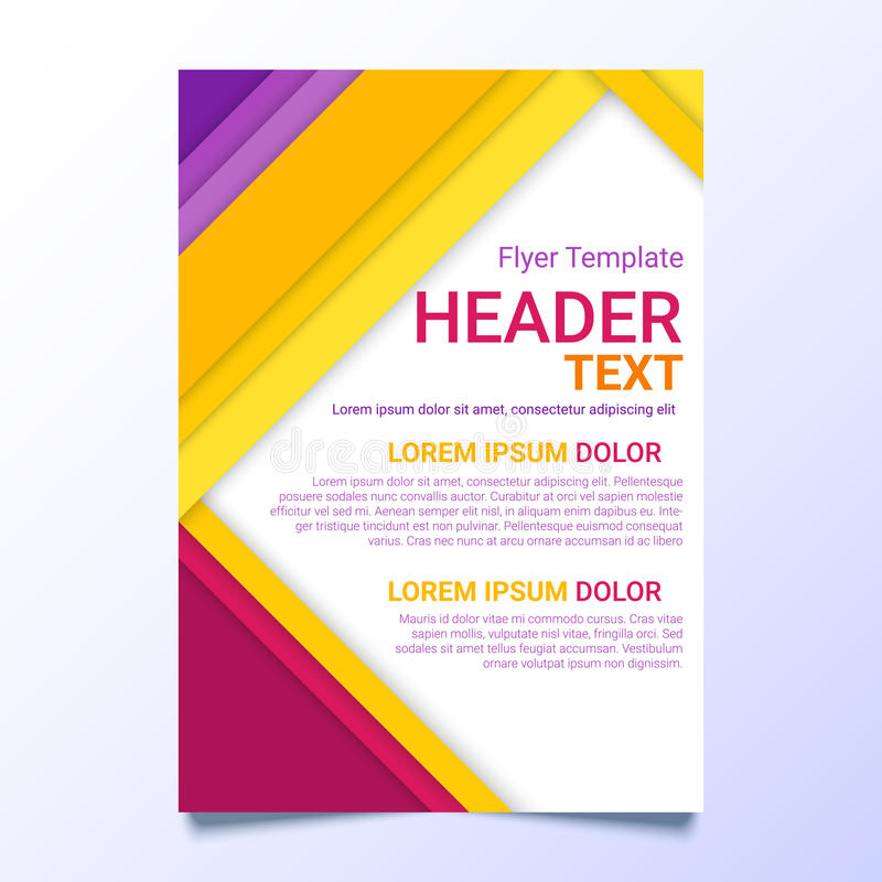 Flyer Template In A Material Design Style Modern Poster Business