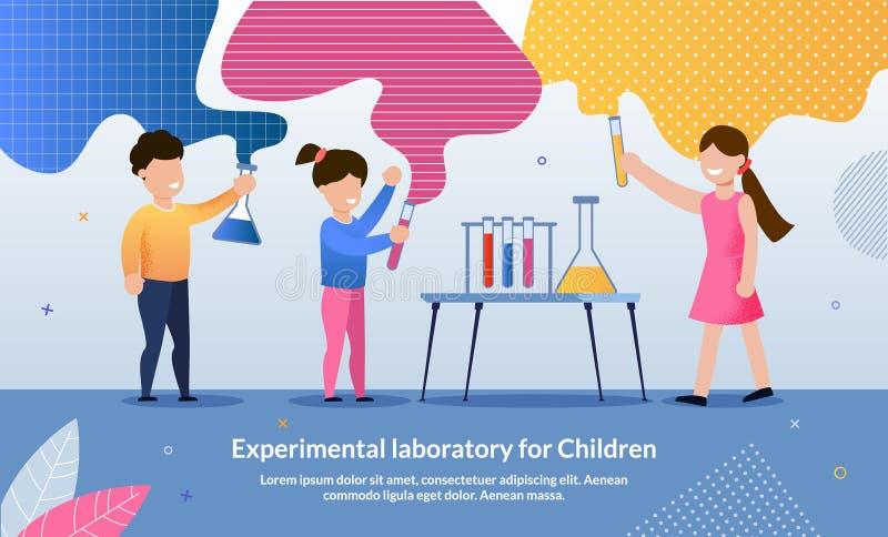 Flyer Written Experimental Laboratory for Children stock illustration