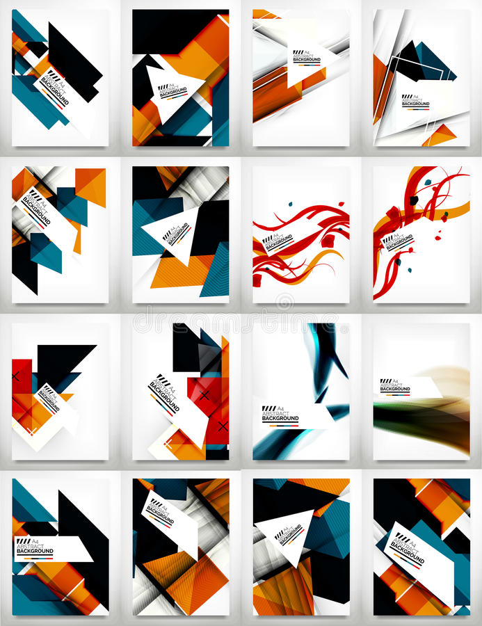 Flyers, Brochure Design Template Set vector illustration