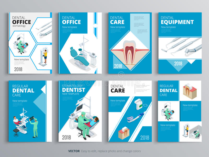 Medical Book Cover Template : Flyers for health and medical concept hygiene template of