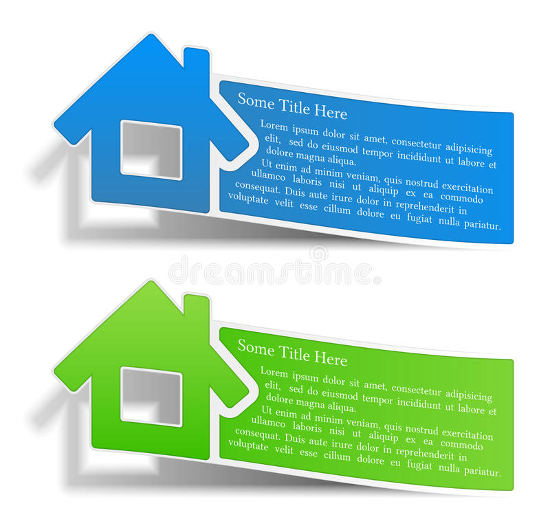 Flyers with a house stock illustration