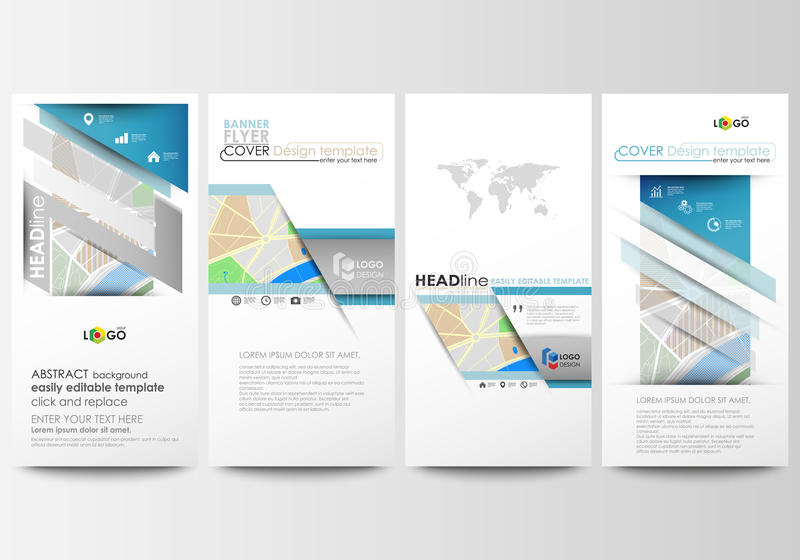 Download Flyers Set Modern Banners Business Templates Easy Editable Layouts City Map