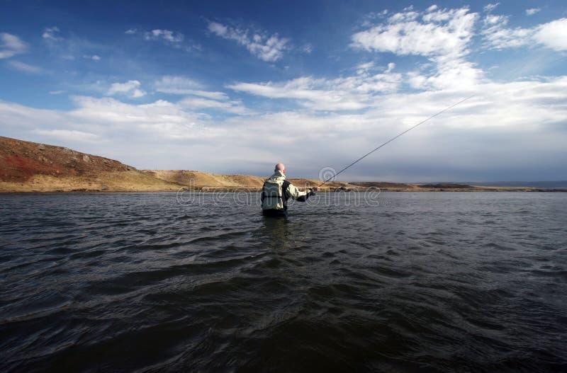 Flyfishing photo libre de droits