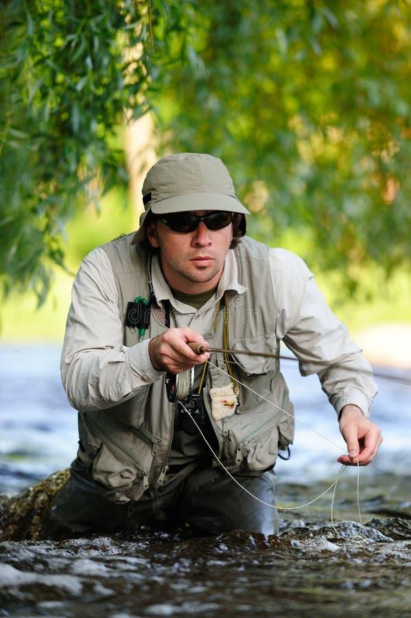 Flyfishing images stock