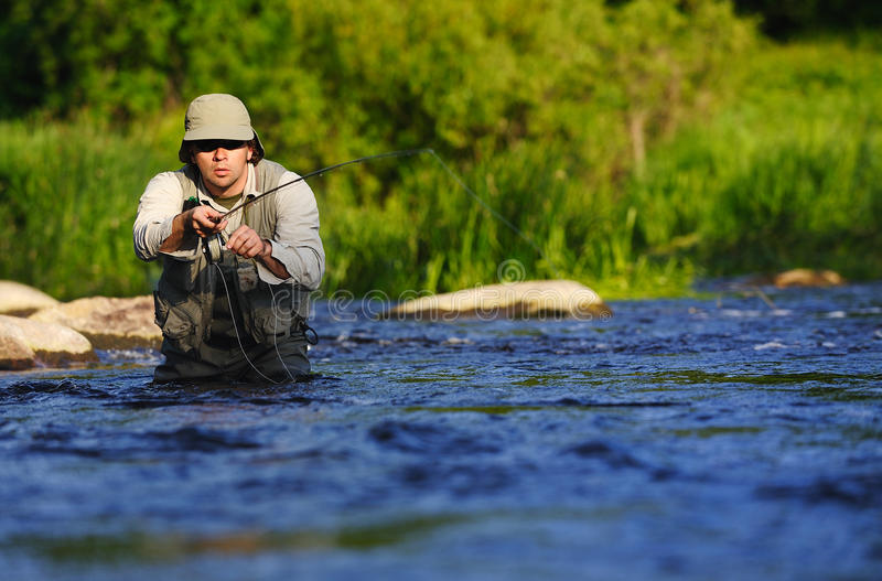 Flyfishing stock fotografie