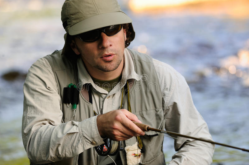 Download Flyfishing stock image. Image of fishing, angling, stream - 11412093