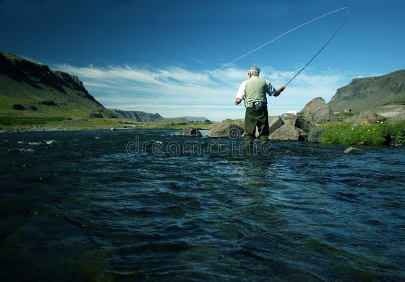 flyfishing obraz stock