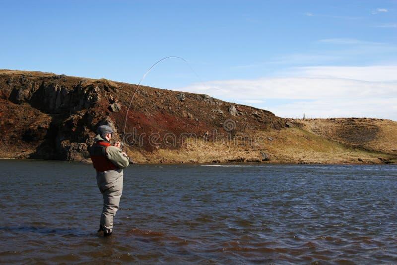 Flyfishing Einsamkeit lizenzfreies stockfoto