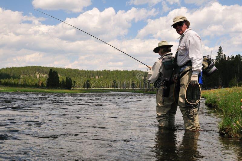 Flyfishing Lesson Stock Photography