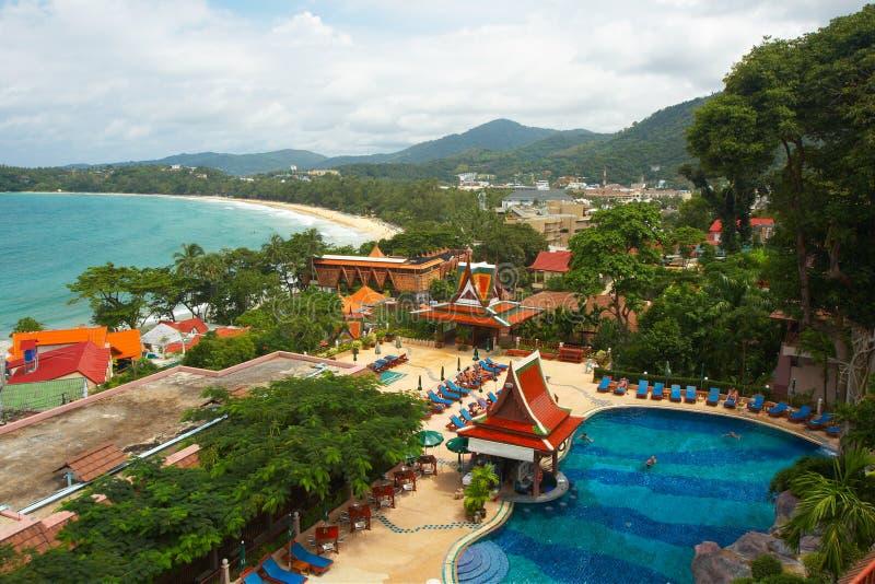 flyg- öphuket thailand sikt arkivfoto