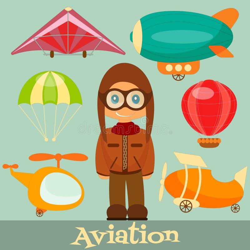 Flyg royaltyfri illustrationer