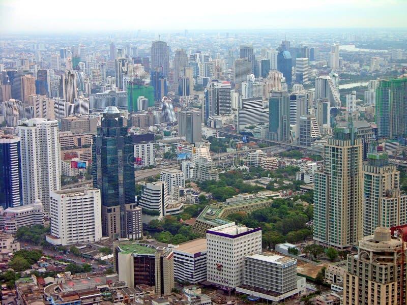 flyg- bangkok sikt arkivbilder