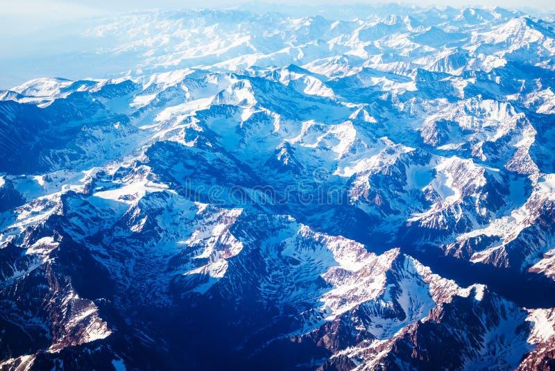 flyg- bergsikt royaltyfria foton