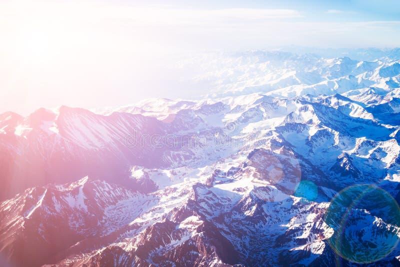 flyg- bergsikt royaltyfria bilder