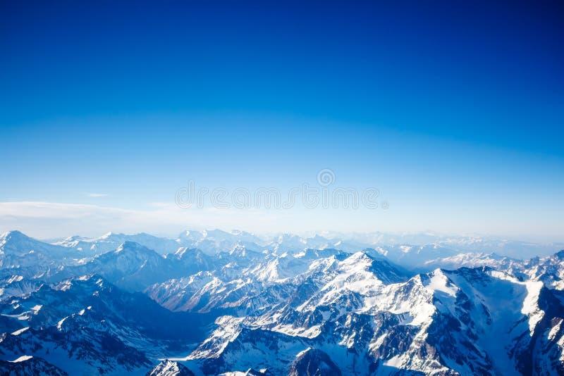 flyg- bergsikt royaltyfri foto