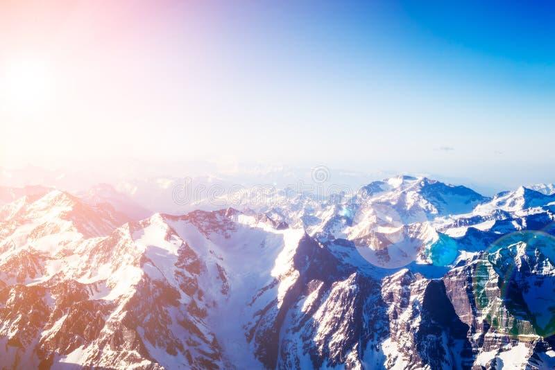 flyg- bergsikt arkivbild