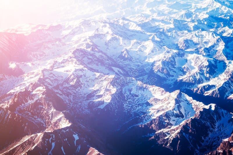 flyg- bergsikt arkivfoton