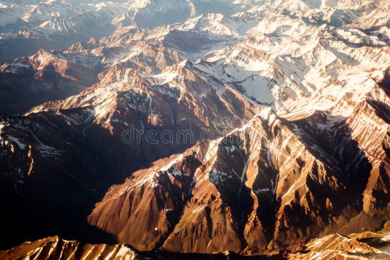 flyg- bergsikt royaltyfri bild