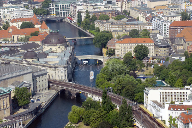 flyg- berlin sikt royaltyfri fotografi