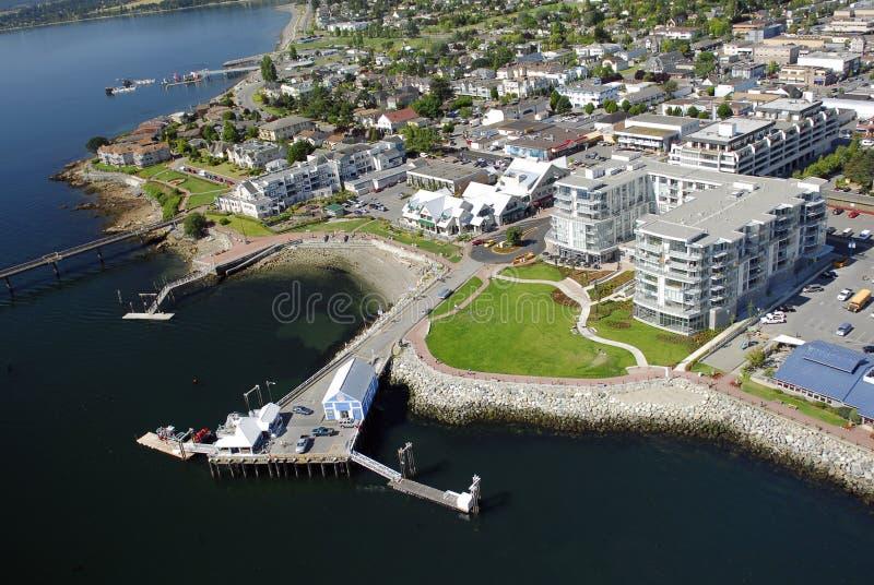 Flyg- bild av Sidney, Vancouver ö, F. KR., Kanada fotografering för bildbyråer