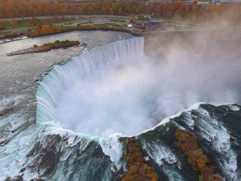 Flyg- bild Niagara Falls royaltyfria bilder