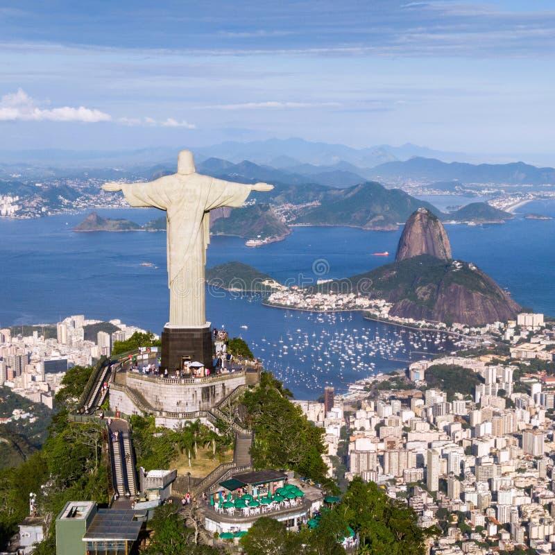 flyg- brazil de janeiro rio sikt fotografering för bildbyråer