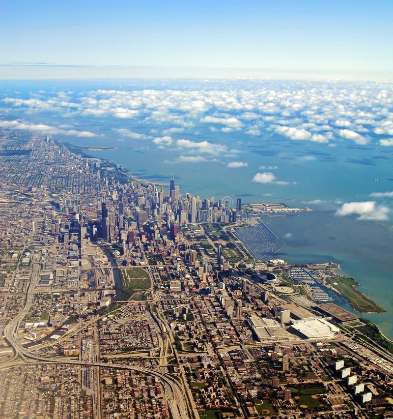 Flyg- Chicago Illinois Sikt Royaltyfri Foto