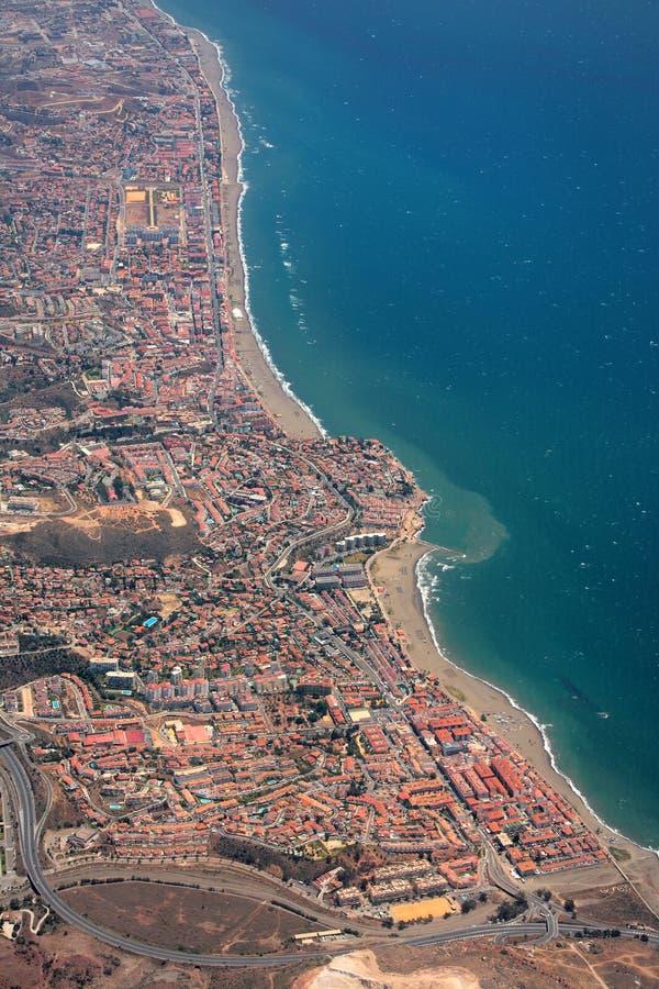 flyg- costalinespain sikt arkivbilder