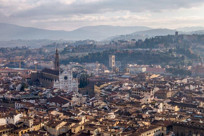 Flyg- dagsikt av Florence royaltyfri foto