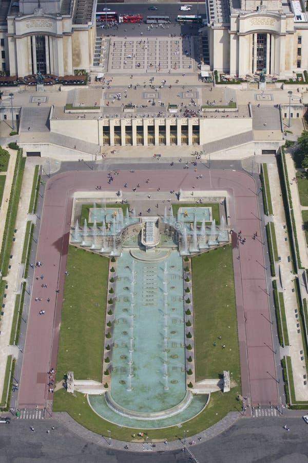 flyg- eiffel paris tornsikt fotografering för bildbyråer
