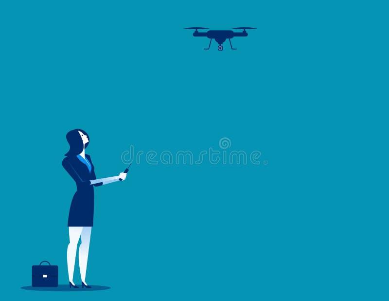 Flyg för affärskontrollsurr Illustrat för begreppsaffärsvektor stock illustrationer