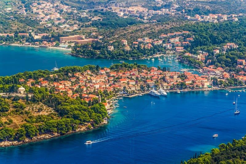 Cavtat Kroatien arkivfoto