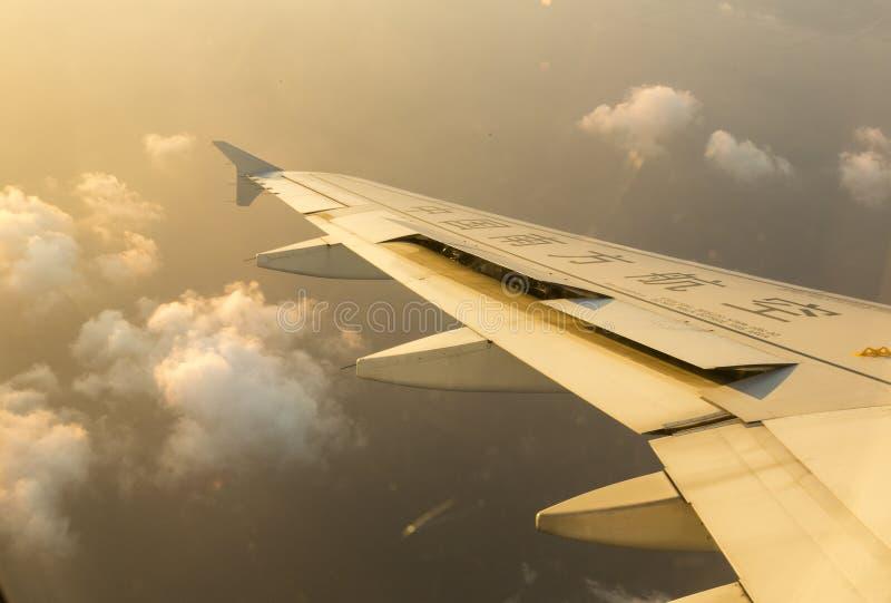 Flyg för Kina sydligt flygbolagflygplan arkivfoto