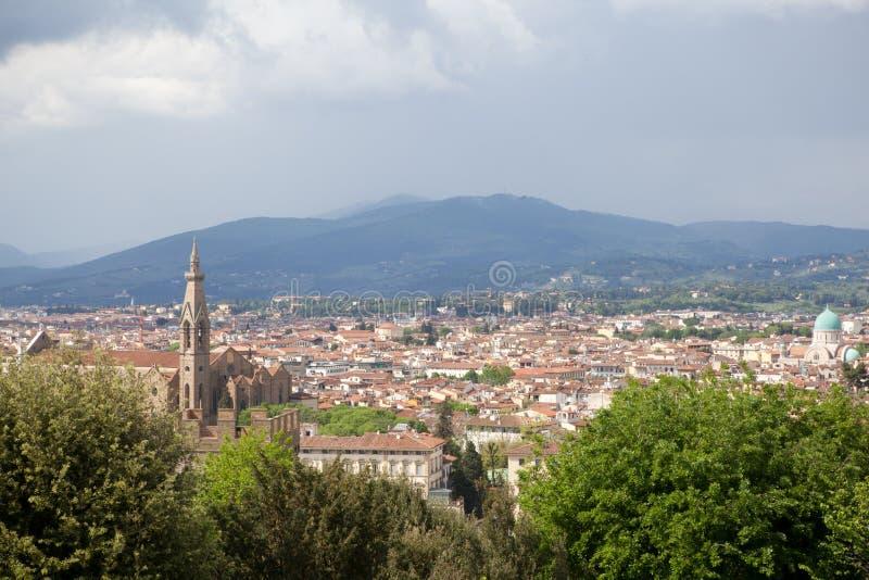Flyg- Florence sikt royaltyfri foto