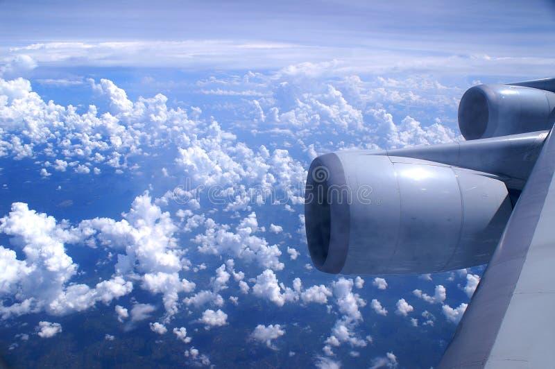 flyg- flygplansikt royaltyfri bild