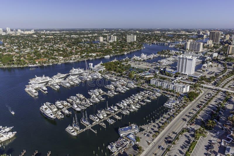 Flyg- Fort Lauderdale, Florida royaltyfria bilder