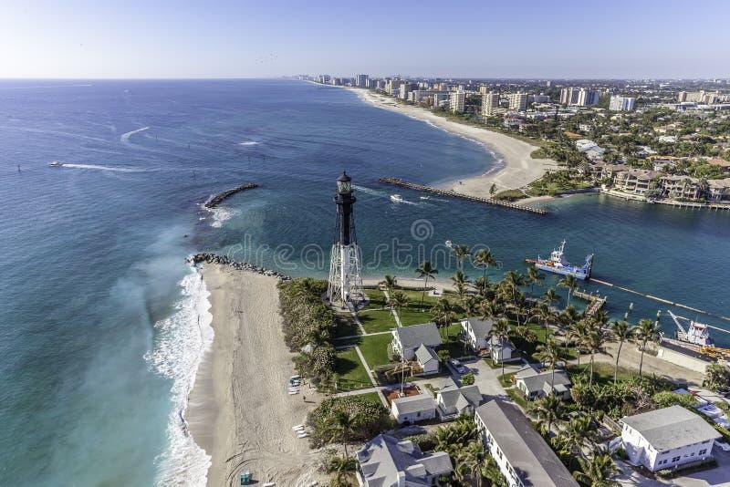 Flyg- Fort Lauderdale, Florida royaltyfri bild