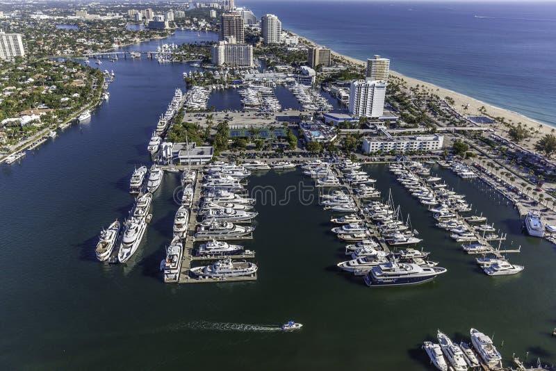 Flyg- Fort Lauderdale, Florida royaltyfri fotografi